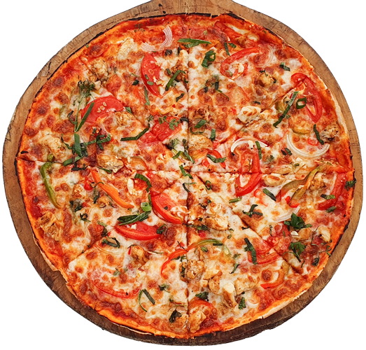 Cardo's Menu Fiji. Cajun chicken pizza