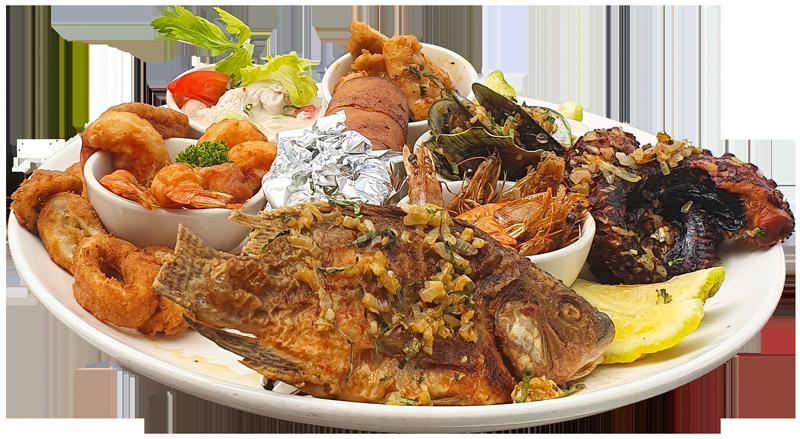 Cardo's Menu Fiji. Seafood Platter, Denarau